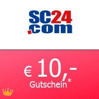 Gutschein über 10€ ohne Mindestbestellwert für sc24.com Shop (Sportbekleidung)