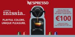 Jetzt bis zu € 100,- Nespresso Gutschein beim Kauf einer neuen Nespresso Maschine @electronic4you