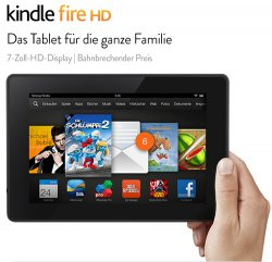Kindle Fire HD 8GB (2013)  für 79,00 Euro (statt 129,00 Euro bei Idealo) bei Amazon