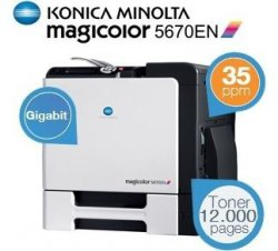 Konica Minolta Magicolor 5670EN High-Performance A4 Laser Drucker heute beim iBOOD EXTRA für 329,95€, Idealo sagt ~950€