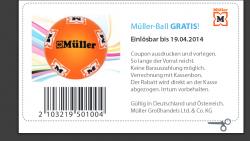 [LOKAL] Kostenloser Ball mit Gutschein bei Müller in allen Filialen abholen bzw gratis mitnehmen