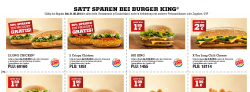 Neue Burger King Gutscheine z.B Long Chicken 2 für 1 @Burger King