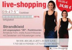 Nur heute beim Live-Shopping bei Ulla Popken: Strandkleid für 24,95€