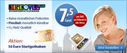 O2 – Netz Bis zu 65€ Guthaben bei Discotel für 9,95€
