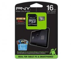 PNY MicroSDHC 16 GB Class10 Speicherkarte + SD-Adapter für 9,00 € (14,22 € Idealo) @MediaMarkt