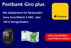 Postbank Girokonto: für Eröffnung 100€ oder Samsung Smartwatch