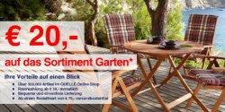 quelle.de : 20€ Gutschein auf Garten und Heimwerker, MBW 200€
