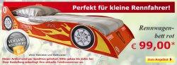 Rennwagenbett in Rot nur 99 €uro versandkostenfrei @Netto-Onlineshop