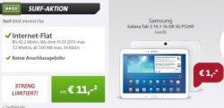 Samsung Galaxy Tab 3 für nur 1,- Euro mit BASE Internet Flat Vertrag @sparhandy