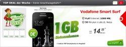 Samsung I9195 Galaxy S4 Mini 8 GB, 1GB Internet, 50min in alle Netze 0€ für 14,95€ im Monat @modeo.de