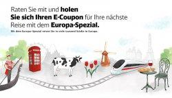Täglich: 15€ Gutschein für DB für die ersten 1000 Teilnehmer zu gewinnen