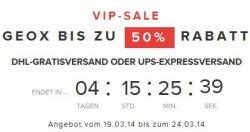 VIP-SALE GEOX Bis zu 50% Rabatt bis zum 24.03.2014@ sarenza.de