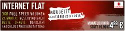 Vodafone Internet Flat 3GB (D-Netz) für 4,99€/mtl. statt 19,99€ mtl. @ebay