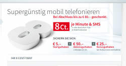 Weltbild Mobil 8cent mit bis zu 80€ geschenkt  für 4,95€ @weltbild-mobil.de