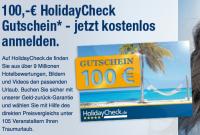 100,-€ Gutschein für Holiday Check für kostenlose Anmeldung bei Elitepartner
