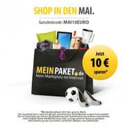 10,00 € Gutscheincode @MeinPaket  (MBW 49,00 €)