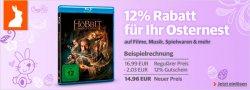 12 Prozent Osterrabatt auf alles + Osternest mit täglich wechselnden Angeboten bei buch.de