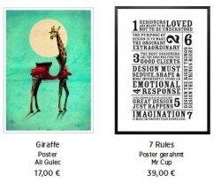 15€ Gutscheincode  (MBW: 39€)@ JUNIQE