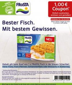 1€ Gutschein für Frosta Tiefkühlkost siehe Artikeltext