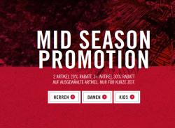 2 Artikel 20% Extra-Rabatt – 3 Artikel 30% Extra-Rabatt im Mid Season Sale @Levis
