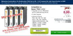 24 x = 6x je Farbe Epson Stylus C64 Nachbau Patronen für 0€ zzgl. Versandkosten @wirhabensnoch.de