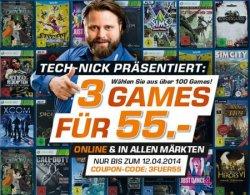 3 Games für 55 Euro durch Gutscheincode bei Saturn