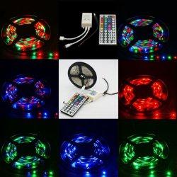 5 m LED RGB Strip Streifen mit 44-Tasten Fernbedienung für 7,96€ [idealo 10,91€]@ ebay