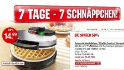 7 Tage 7 Schnäppchen @weltbild.de z.B. Edelstahl Waffeleisen für 14,99 € statt 29,99 €