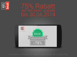 75% Rabatt auf das mailbe.at (Android Email Client) basic upgrade