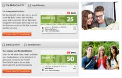 BahnCard 25 oder 50 für Studenten, Schüler, Azubis und Senioren mit über 50% Rabatt