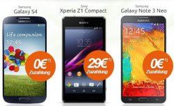 Bei Modeo.de: Otelo Allnet-Flat M inkl. top Smartphone für 0€, z.B. Galaxy S4 (24,99€ mtl.)