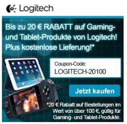 Bis zu 20€ Rabatt dank Gutscheincodes bei Logitech