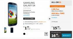Computerbild Aktion für nur 16,90€: Samsung Galaxy S4 mit 1GB Internet bis 42 Mbit/s + 400 Min/SMS in alle Netze @simyo