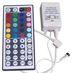 Controller + Fernbedienung 44 Tasten Remote für RGB LED Strip für 3,38€ inkl. Versand [idealo 6,50€]