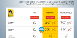 Cyber Ghost Oster Angebot zb. 12 Monate Premium Prepaid für statt 49,89€ für 20,04€