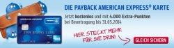 Dauerhaft kostenlos PAYBACK American Express Karte + 4000 Paybackpunkte