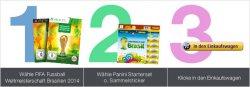 FIFA Fußball-Weltmeisterschaft Brasilien 2014 ab 55,39€ kaufen + Panini Starterset/Sammelsticker gratis