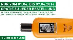 Floid 3in1 Shampoo (Wert 13,95 €) gratis zu jeder Bestellung vom 01.04.-07.04.2014 @dergepflegtemann.de