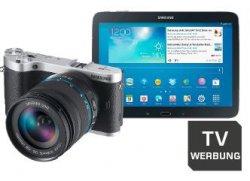 """Samsung NX 300 Schwarz + 18-55mm + Tab 3 10"""" Wifi 16GB für 499€ [583,28 Euro bei Idealo] und weitere FRÜH-JA Angebote an den Ostertagen! @SATURN.de"""