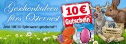 Für Ostern! 10-€-Spielwaren-Gutschein @buecher.de
