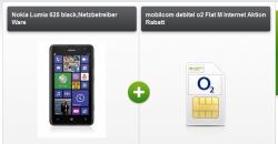 gratis Nokia Lumia 625 mit o2 Tarif für 4,95€/Monat( inkl. Festnetz-Flat,o2- Flat , 300MB Daten + extra Festnetznummer)
