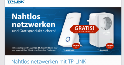 Gratisprodukt beim Kauf von ausgewählter Produkte WLAN und Powerline @tp-link.com