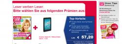 Jahresabo Funkuhr + Trekstor SurfTab Breeze 7  oder 60€ Barprämie für 57,20€
