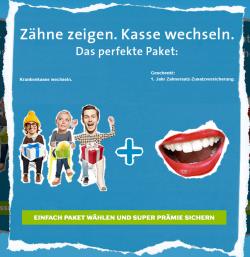 Krankenkassenportal: Tablet,  beim Krankenkassenwechsel + zusätzlich Gratis 1 Jahr Zahnersatz-Zusatzversicherung