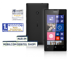 [ LOKAL] Nokia Lumia 520 in schwarz für 89,99€ [idealo 101,99 ] @mobilcom-debitel