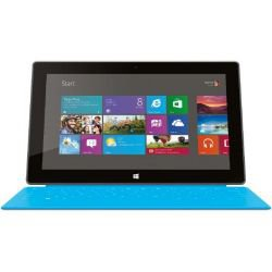 Microsoft Surface Tablet WiFi 64 GB Windows 8.1 RT mit Touch Cover cyan für 249,63€ [idealo ab 289,90€]