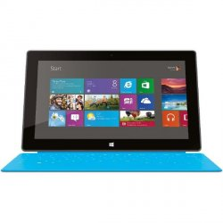 Microsoft Surface Tablet Wi-Fi 64 GB Windows 8.1 RT mit Touch Cover cyan für 250,63€