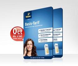 Partner Basis-Tarif-Paket Prepaid-Startpaket[ 0€ Min./SMS] statt 19,90€ für 9,95€@ Tchibo