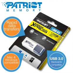 Patriot Supersonic Xpress 128 GB USB 3.0 Flash-Laufwerk für 49,95 Euro (statt 87,39 Euro bei Idealo) bei iBOOD
