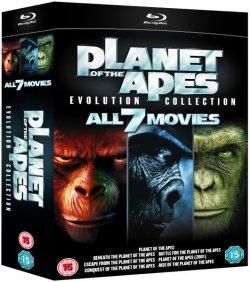 Planet der Affen Evolution Collection Blu Ray (alle 7 Filme) für 21,09 € (114,95 € Idealo) @zavvi.com